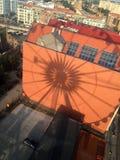 Danzig Pologne, vue de roue d'Amber Sky photographie stock