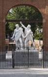 Daoíz and Velarde. Antonio Sola. Plaza del Dos de Mayo, Madrid, Spain Sculpture, Marble royalty free stock photography