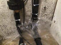 Daño del agua del sótano Imagenes de archivo