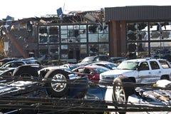 Daño TN 13 del tornado Imagen de archivo