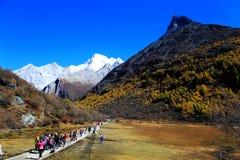 Daocheng Yading, een natuurreservaat op nationaal niveau in China stock fotografie