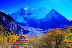 Daocheng Yading , a national level nature reserve in China Royalty Free Stock Image