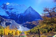 Daocheng Yading, una riserva naturale di livello nazionale in Cina Immagine Stock
