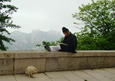 Daoist daily life stock photography