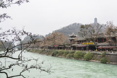 Daojiang storied building freshwater fishes restaurant Royalty Free Stock Photos