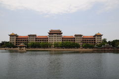 Daonan byggnad, Jimei skolaby, Xiamen Arkivbilder