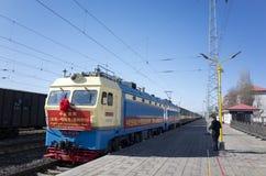 Daong au ceremoney de lancement de premier train de bloc de Mensk image stock