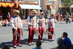 The Daper Dan 's at Disneyworld Royalty Free Stock Images