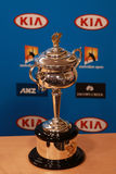 Daphne Akhurst Memorial Cup presented  during press conference women final at Australian Open 2016 Royalty Free Stock Image