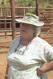 Daphne Sheldrick of the David Sheldrick Wildlife Trust in Nairobi, Kenya, the woman who saves orphan African Elephants Stock Images