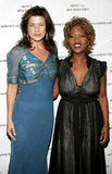 Daphne Zuniga and Alfre Woodard. At the Archbishop Desmond Tutu`s 75th Birthday Celebration held at the Regent Beverly Wilshire Hotel in Beverly Hills, USA on Royalty Free Stock Image