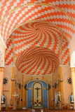 Dapitan Church. Psychedelic ceiling patterns on a modern church located in a historical place in the Philippines Stock Photo