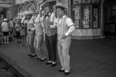 The Dapper Dans is lively barbershop quartet sings in harmony on Main Street at Magic Kingdom 2