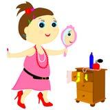 Dapper little girl Stock Photo