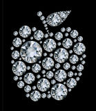 Dapple Diamond apple on black background Royalty Free Stock Photography