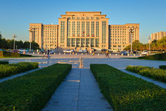 Daqing city government office building sunset Stock Images