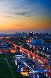 The daqing west district night Royalty Free Stock Images