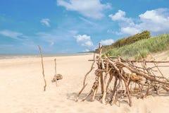 Darß del oeste de la playa que pasa por alto el mar Foto de archivo