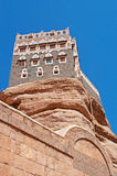 Dar al-Hajar, Dar al Hajar, the Rock Palace, royal palace, decorated windows, iconic symbol of Yemen Stock Photography
