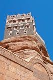 Dar al-Hajar, Dar al Hajar, the Rock Palace, royal palace, decorated windows, iconic symbol of Yemen Stock Photography