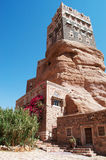 Dar al-Hajar, Dar al Hajar, the Rock Palace, royal palace, decorated windows, iconic symbol of Yemen Stock Photo