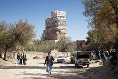 Dar al Hajar palace in Wadi Dhahr yemen Stock Images