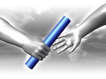 Dar el bastón Imagen de archivo libre de regalías