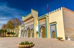 Dar El-Makhzen, Royal Palace em Fes, Marrocos imagens de stock royalty free
