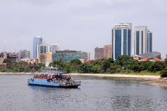 Dar es Salaam. The City of Dar es Salaam is the largest city in Tanzania. It is also the country's richest city and a regionally important economic centre Stock Images