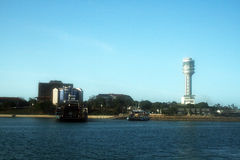 Dar es-salaam. The port and the tower of dar es-salaam capital city of tanzania Stock Images