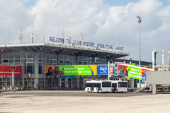Dar es Salaam Airport. Julius Nyerere International Airport in Dar es Salaam, Tanzania Stock Photos