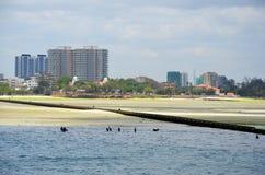 Dar Es Salaam en zijn kust stock foto