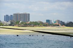Dar Es Salaam and its coast stock photo