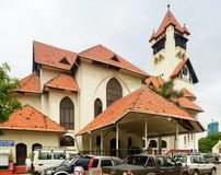 Dar es Salaam Lutheran Church. The Lutheran Church of Dar es Salaam, Tanzania, reminds of the country's colonial history. Until 1918 Tanzania, then German East Stock Image