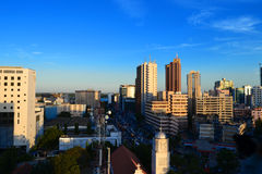 Dar es Salaam overview. Capital of Tanzania royalty free stock photo