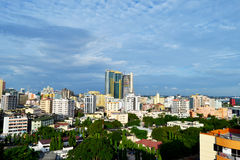 Dar es salaam overview. Dar es salaam Tanzania overview from high with twin towers stock images