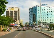 Dar es Salaam, Tanzânia. o centro de cidade. Imagens de Stock