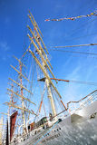 Dar Mlodziezy - the Polish sail training ship during Stopover in Stock Images