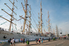 Dar Mlodziezy polish tall ship Stock Images