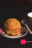 Dar muffin in a romantic set Royalty Free Stock Photo
