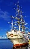Dar Pomorza польское полно-оснащенное парусное судно построенное в 1909 которое сохранено в Гдыне как корабль музея стоковые фотографии rf
