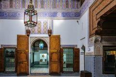 Dar Si Said slott i Marrakech, Marocko arkivbilder