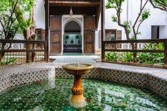 Dar Si Said slott i Marrakech, Marocko arkivbild
