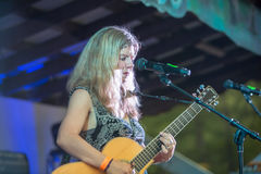 Dar Williams Performing at the Wild Goose Festival Royalty Free Stock Photo