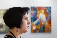 Dara Korniy,著名乌克兰作家,会议在文尼察,乌克兰, 31 03 2017年,社论照片 免版税库存照片