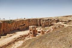 Dara Ruins, Mardin, Turkije stock foto's