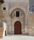 Darb Al Labana胡同门, Bahari Mameluke时代门,一最老那些那曾经指示了入口到许多胡同 库存图片
