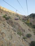 Darband góra, Cahirlift, Teheran Zdjęcia Stock