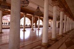 Darbar Corridoio di Royal Palace, Indore Immagine Stock