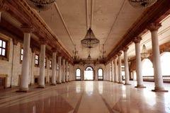 Darbar Corridoio di Royal Palace, Indore Fotografia Stock